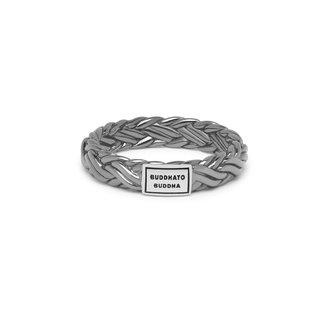 Buddha to Buddha Katja XS Ring Black Rhodium Shine Silver