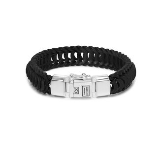 Buddha to Buddha Lars Leather Bracelet Black