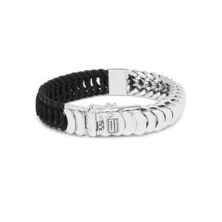 Buddha to Buddha Lars Mix SilverLeather Bracelet Black