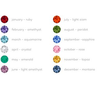 Melano Jewelry Globe Birth Stones