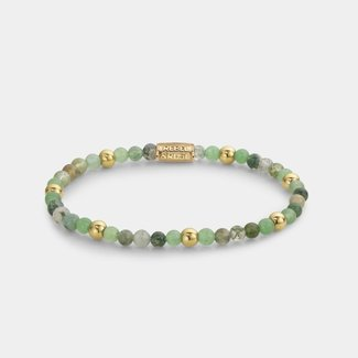 Rebel & Rose More Balls Than Most - Green Morning Vibes - 4mm - yellow gold plated