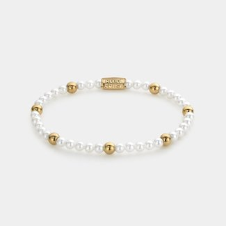 Rebel & Rose More Balls Than Most - Pearl Gem - 4mm - yellow gold plated