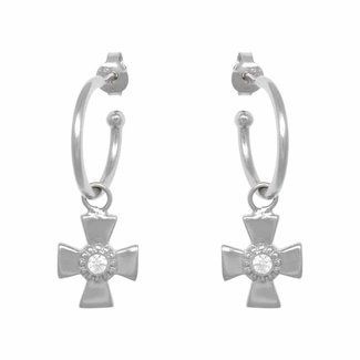 Eline Rosina Cross Hoops