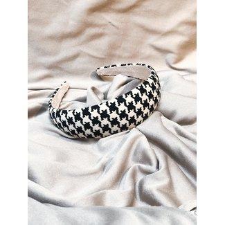 Haarband Pied-de-Poule Black/White