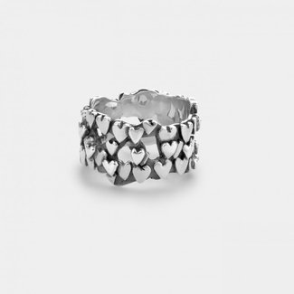 Rebel & Rose Sterling Silver Rings - Ring Hearts & Hearts