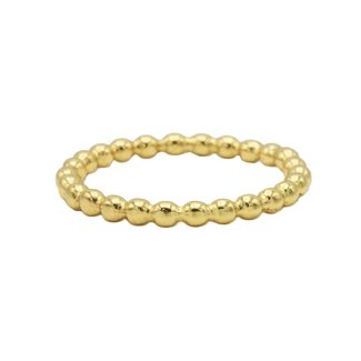 KARMA Jewelry Ring Dots Plain Goldplated