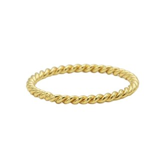 KARMA Jewelry Ring Twisted Plain Goldplated
