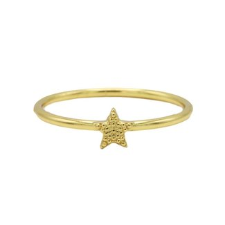 KARMA Jewelry Ring Star Goldplated