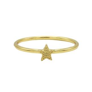 KARMA Jewelry Ring Star Goldplated