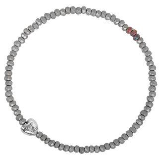 Pimps & Pearls Armband Storia Tre - Mat Zilver