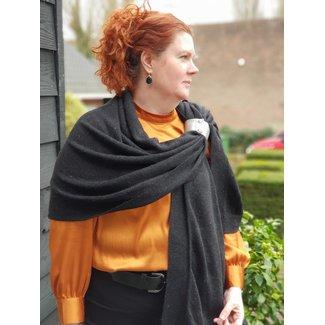Pimps & Pearls Sjaal Caban Fine Knit Sjaal 01 Black