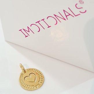 Imotionals Hanger Krans Symbol Hart - Goud