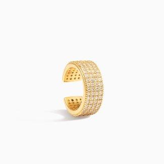 Eline Rosina Pavé Ear Cuff - Gold