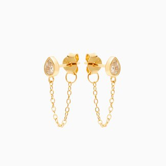 Eline Rosina Drop Chain Earrings
