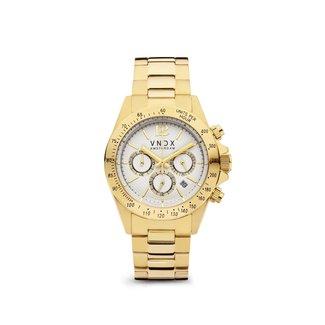 VNDX Amsterdam Horloge Power Babe Boss Goud Wit