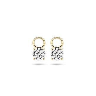 Blush Gold Jewels Oorbelbedels 9026YZI - Geel Goud (14Krt.) met Zirconia