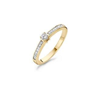 Blush Gold Jewels Ring 1145BZI - Geel goud (14Krt.) met Zirconia