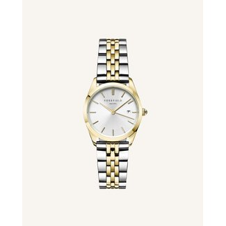 ROSEFIELD Dames Horloge The Ace XS Silver Gold Duotone 29mm