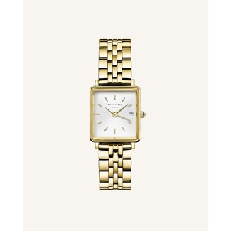 ROSEFIELD Dames Horloge The Boxy XS White Gold 22*24mm