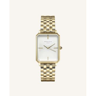 ROSEFIELD Dames Horloge The Octagon White Sunray Steel Gold 23*29mm