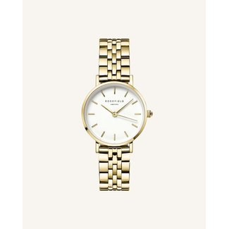 ROSEFIELD Dames Horloge The Small Edit White Steel Gold 26mm