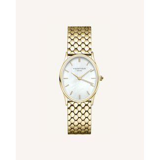 ROSEFIELD Dames Horloge The Oval White Steel Gold 24*29mm