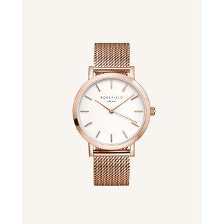 ROSEFIELD Dames Horloge The Mercer White Rose gold 38mm