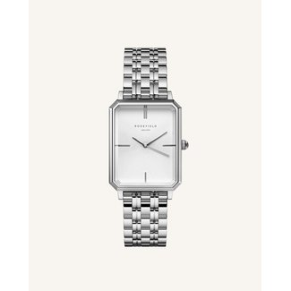 ROSEFIELD Dames Horloge The Octagon White Sunray Steel Silver 23*29mm