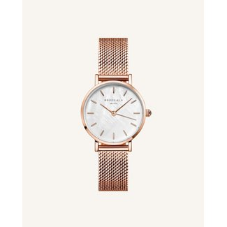 ROSEFIELD Dames Horloge The Small Edit White Rose gold 26mm