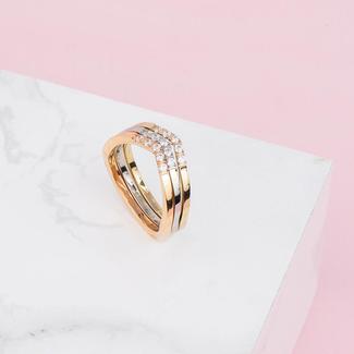 Melano Jewelry Ring Set Friends Infinite Shine
