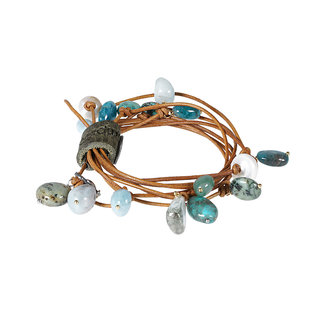 Pimps & Pearls Edelsteen wikkelsieraad blauw groen Party Wrap Amour