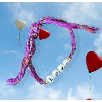 Loffs Armband Sari Love  - Purple