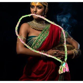 Loffs Ketting Sari - Green/Fuchsia