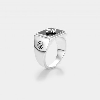 Rebel & Rose Sterling Silver Rings - Ring Square Scout Lowneck