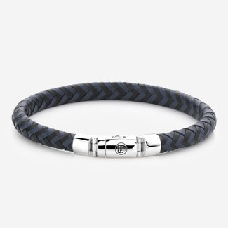 Rebel & Rose Absolutely Leather - Half Round Braided Black-Blue