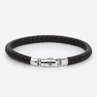 Rebel & Rose Absolutely Leather - Half Round Braided Black-Earth