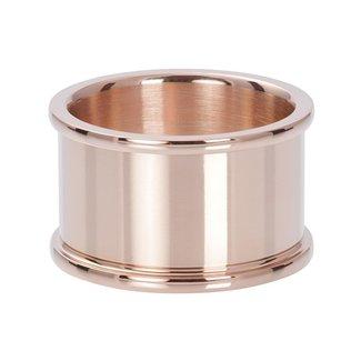 IXXXI Jewelry Basisring 12 mm - Rosékleurig