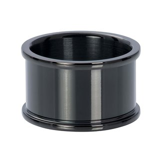 IXXXI Jewelry Basisring 12 mm  - Zwart