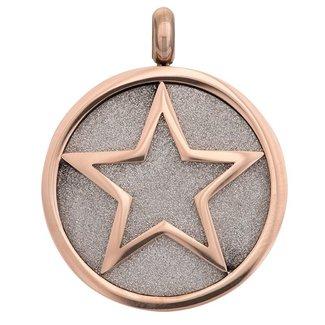 IXXXI Jewelry Charm Glamour Star - Rosékleurig