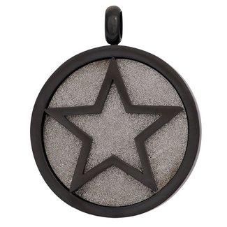 IXXXI Jewelry Charm Glamour Star  - Zwart