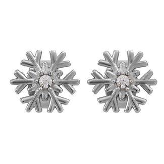 IXXXI Jewelry Oorbellen Snow Flake - Zilverkleurig