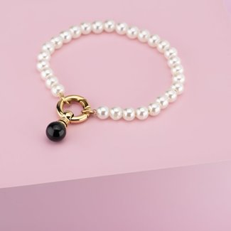 Melano Jewelry Twisted Girl With The Pearl Armband Set