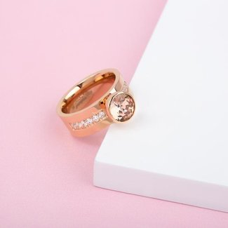 Melano Jewelry Twisted Choose To Shine Ring Set - Rosékleurig