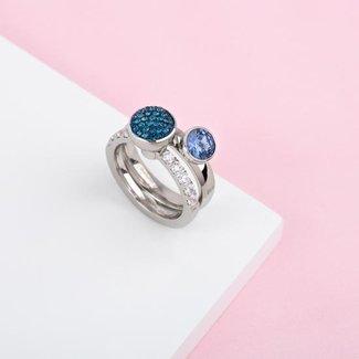 Melano Jewelry Twisted Make The Statement Ringen Set - Zilverkleurig