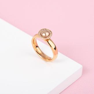 Melano Jewelry Twisted Be Around You Ring Set - Rosékleurig