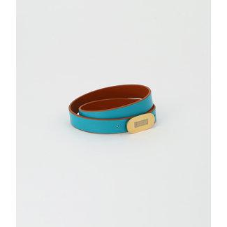 ZAG BIJOUX Armband Sydney Turkoois - Camel