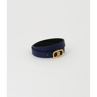 ZAG BIJOUX Armband Alpin Donkerblauw - Zwart