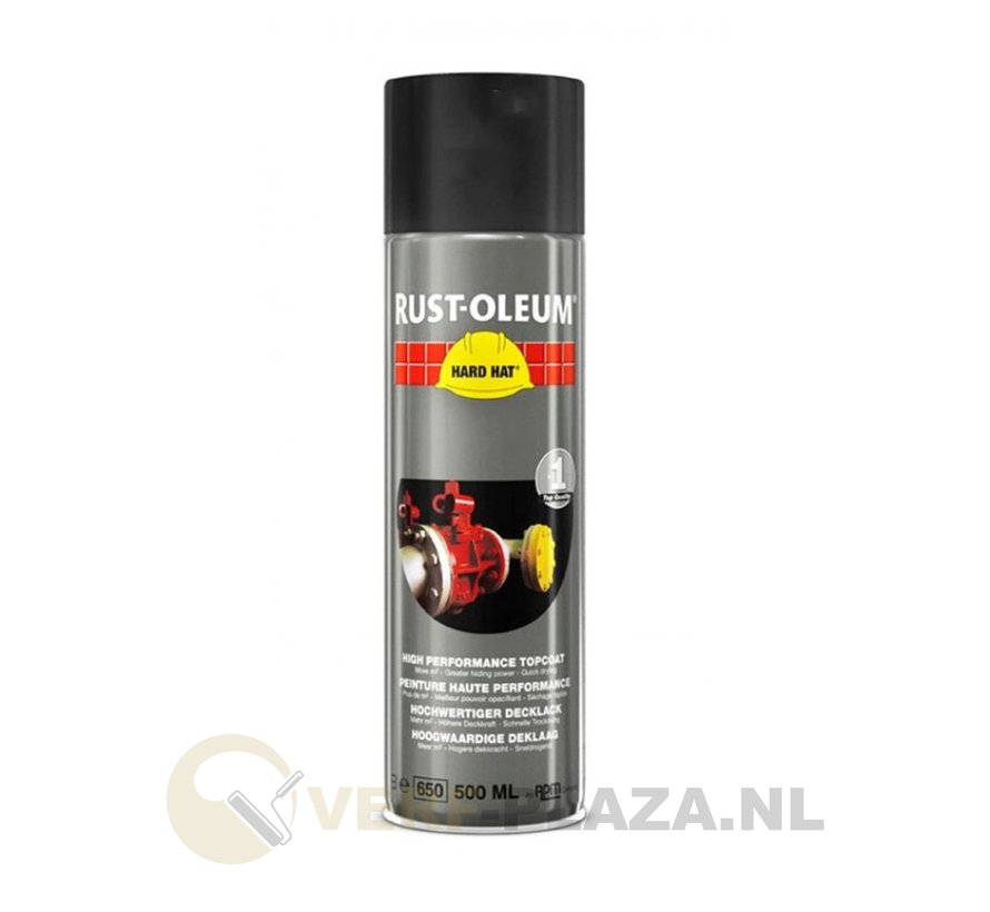 Rust-oleum Hard hat - Mat zwart - 500 ml
