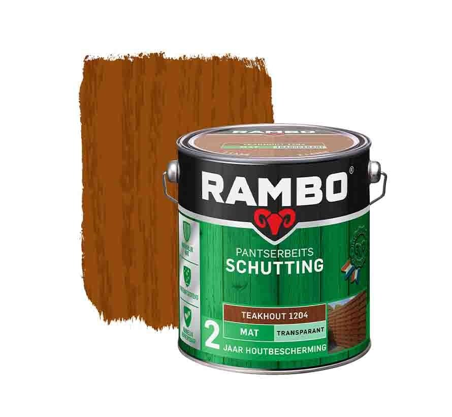 Rambo Tuinhout pantserbeits zijdeglans transparant teakhout 1204 2,5 liter