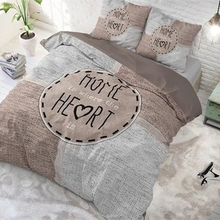 Knitted Home Heart Taupe
